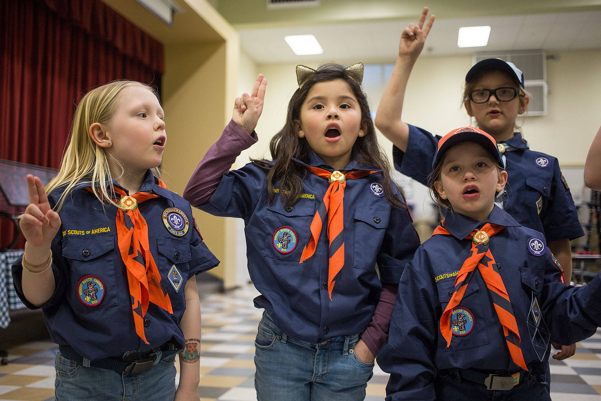 They Re Among The First Female Eagle Scouts In The Making
