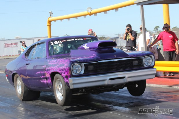 Ed Miller Made The Tow Up From Port St Lucie Florida With His Drag Week Winning Duster He Set Record In Class An 8 58 At 159 Mph