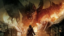 Smaug vs Bard played by actor Luke Evans in 'The Hobbit'