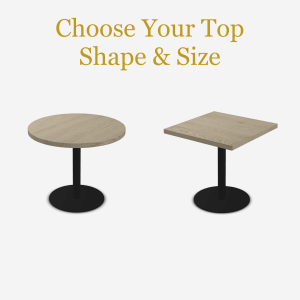 Cafe Table with Disk Base