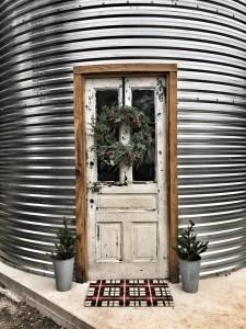 Door to Grain Bin Outdoor Kitchen