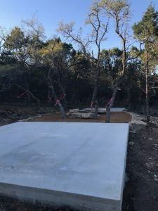Concrete Slab for Grain Bin Outdoor Kitchen