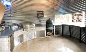 Inside of Grain Bin Outdoor Kitchen