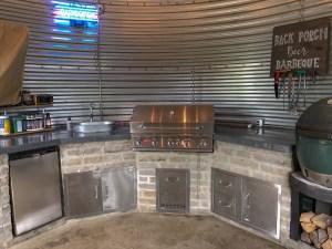 Inside of Grain Bin Outdoor Kitchen