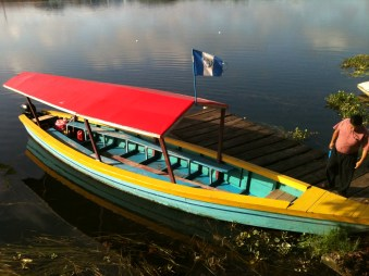 Typical boat, Lake Peten Itza, Flores