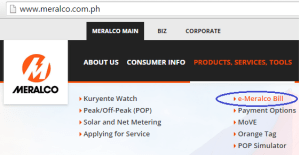 View your e-Meralco Bill Online and Pay thru BDO Online Banking