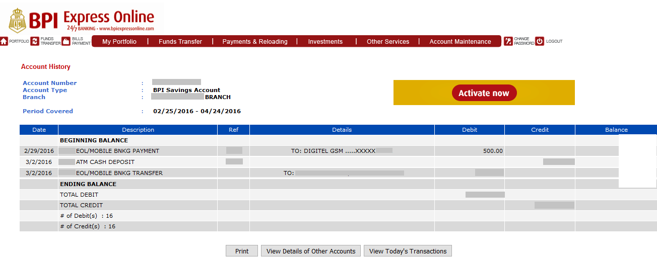 BPI-express-online-view-transactions