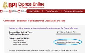 How to Pay Sky Broadband through BPI Express Online