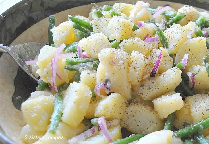 Potato & Green Bean Salad by 2sistersrecipes.com