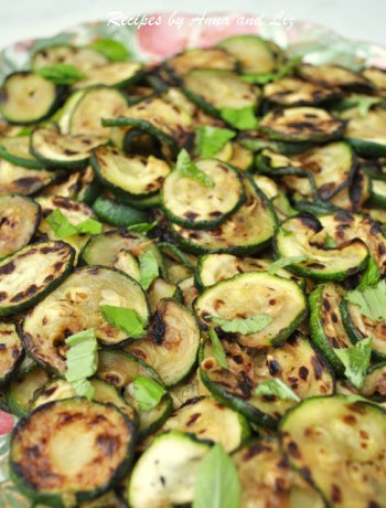 Grilled Zucchini Salad Neapolitan Style! by 2sistersrecipes.com