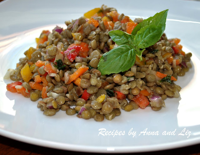 Lentil Salad with Sweet Peppers