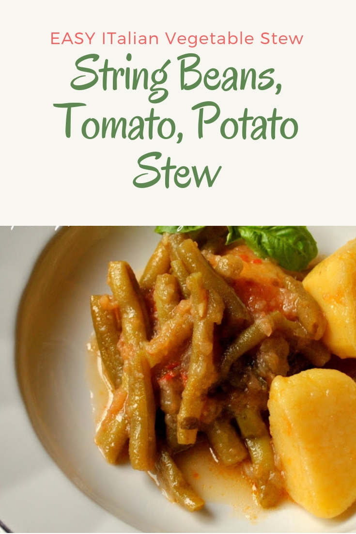 String Beans, Tomato, Potato Stew by 2sistersrecipes.com