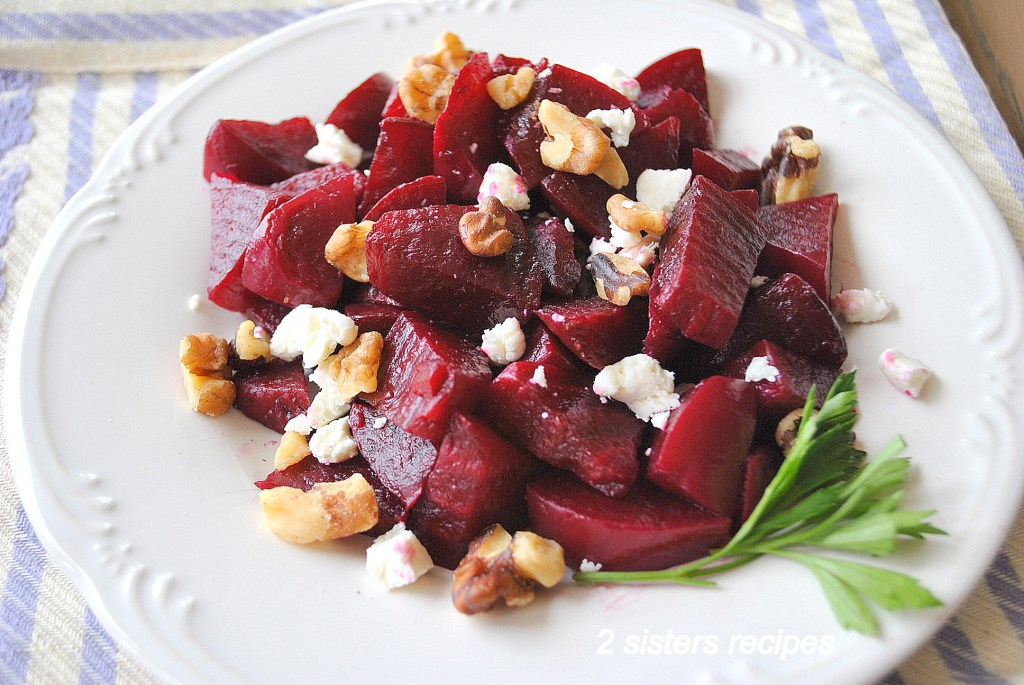 Easy Beets Goat Cheese Walnut Salad by 2sistersrecipes.com