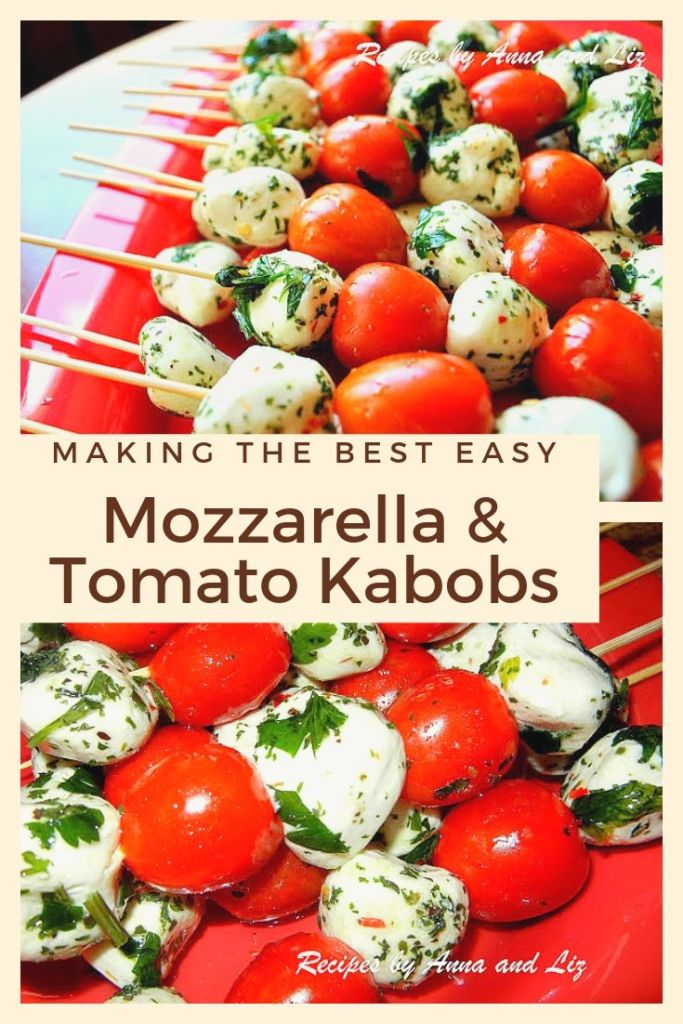 Easy Mozzarella and Tomato Kabobs by 2sistersrecipes.com