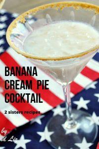 Banana Cream Pie Cocktail by 2sistersrecipes.com