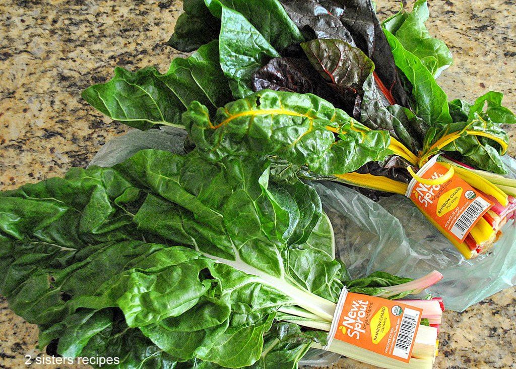 Swiss Chard Steamed with Tomatoes by 2sistersrecipes.com
