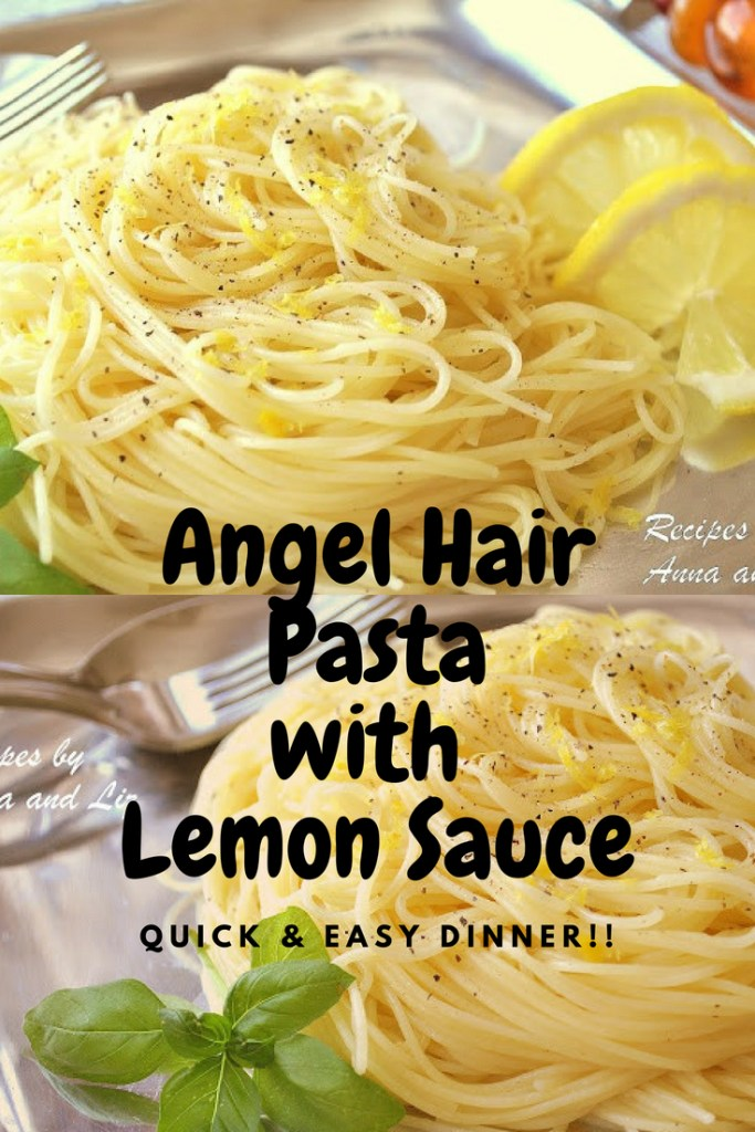 Angel Hair Pasta with Lemon Sauce by 2sistersrecipes.com