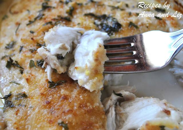 Baked Flounder Filet Oreganata - Lightened!