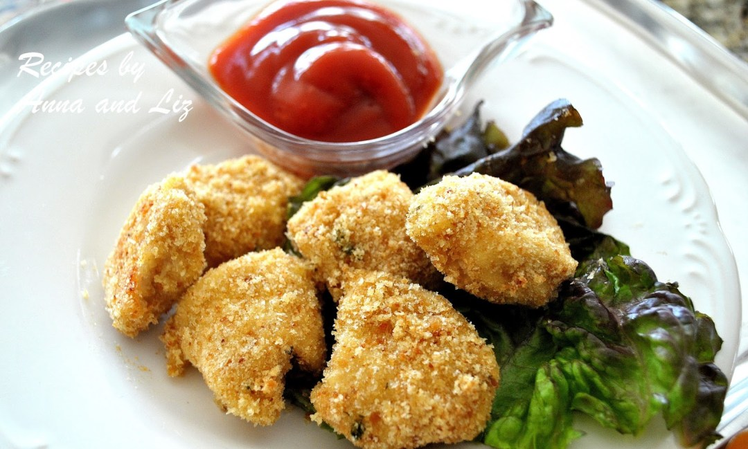 Baked Chicken Nuggets the Healthy Way! by 2sistersrecipes.com