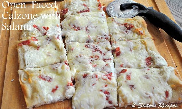 Open-Faced Calzone by 2sistersrecipes.com