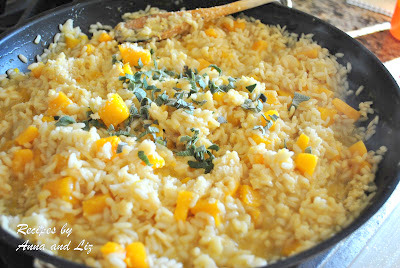Butternut Squash Risotto with Cheese and Sage by 2sistersrecipes.com