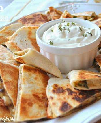 Chicken Quesadillas by 2sistersrecipes.com
