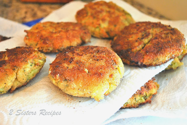 Broccoli and Cheese Patties by 2sistersrecipes.com
