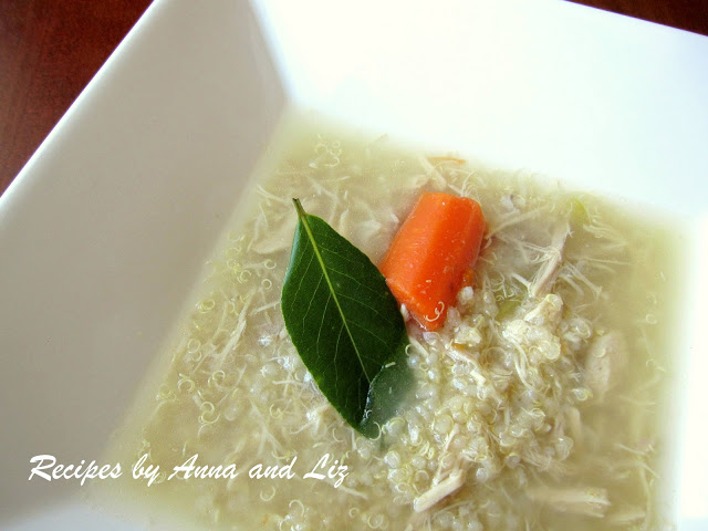 Mom's Chicken Soup with Quinoa by 2sistersrecipes.com