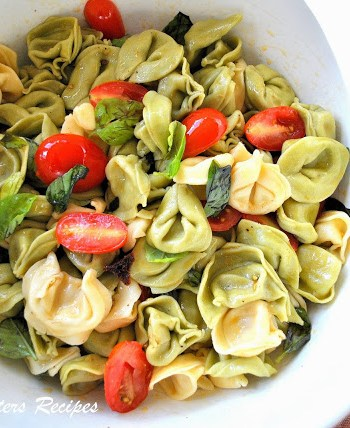 Three Cheese Tortellini Salad by 2sistersrecipes.com