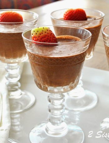 Skinny Chocolate- Mocha Mousse by 2sistersrecipes.com