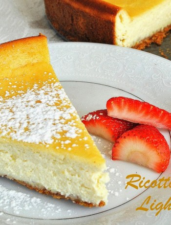 Ricotta Cheesecake Recipe - Lightened!! By 2sistersrecipes.com