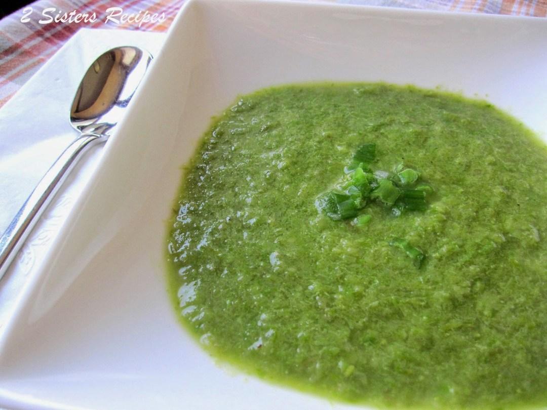 Creamy Asparagus Soup by 2sistersrecipes.com