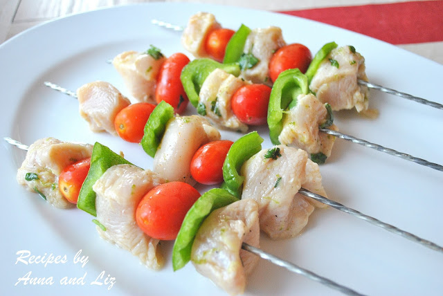 Grilled Ginger-Lime Chicken Kabobs by 2sistersrecipes.com