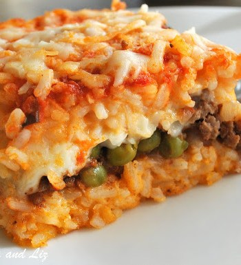 Best Rice Ball Casserole Stuffed with Meat and Peas by 2sistersrecipes.com