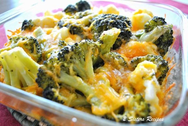 Baked Kale Broccoli Cauliflower Cheddar Casserole by 2sistersrecipes.com