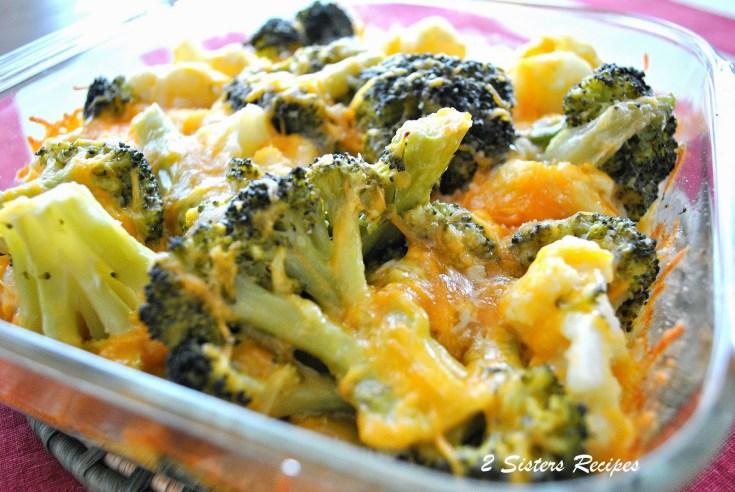 Baked Kale, Broccoli, Cauliflower, Cheddar Cheese