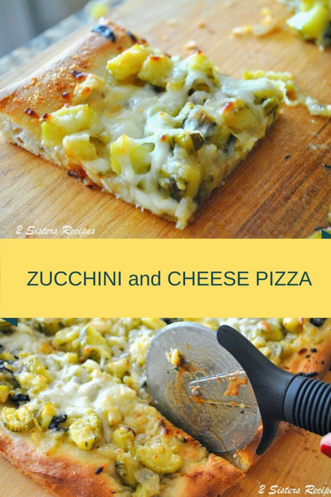 Baked Twice Zucchini and Cheese Pizza by 2sistersrecipes.com