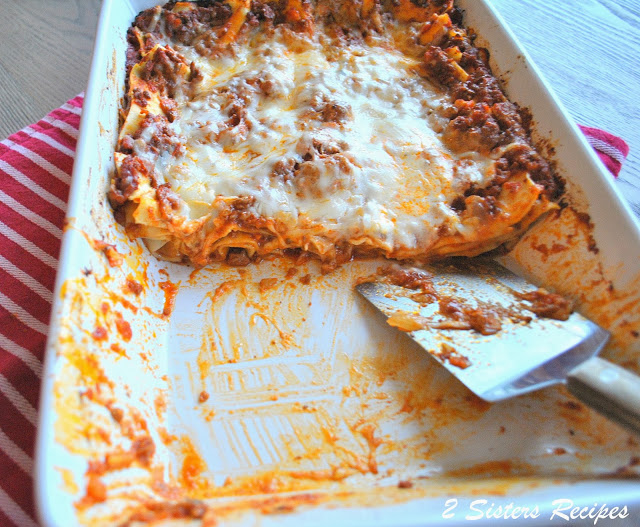 EASY Meat Lasagna with NO-Boil Noodles -Lightened!