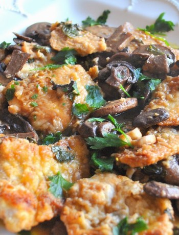 Chicken Marsala with Mushrooms by 2sistersrecipes.com