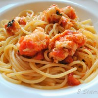 Spaghetti with Lobster Tails Sauce