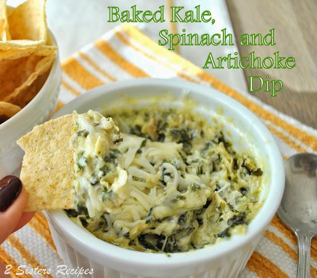 Baked Kale, Spinach, Artichoke Dip