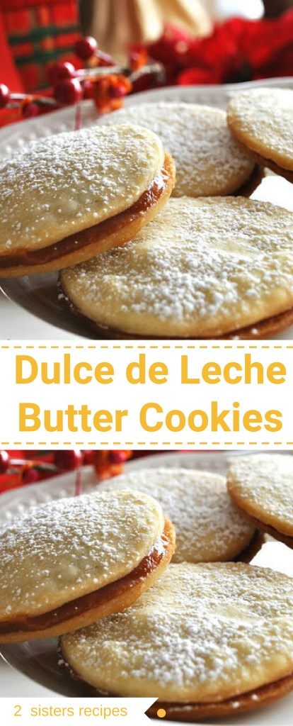 Dulce de Leche Butter Cookies by 2sistersrecipes.com