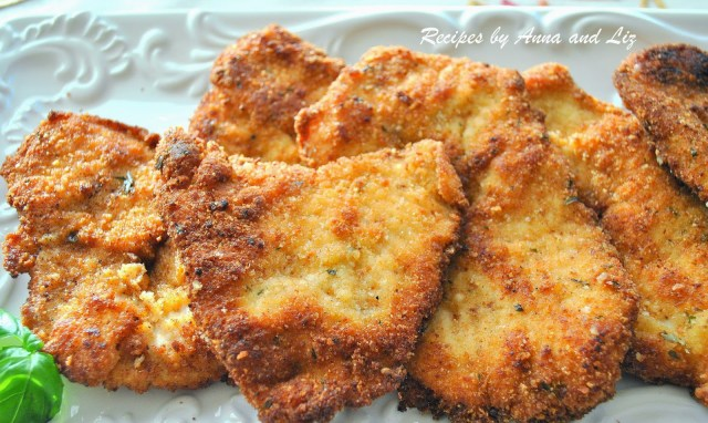 Parmesan Crusted Turkey Cutlets by 2sistersrecipes.com
