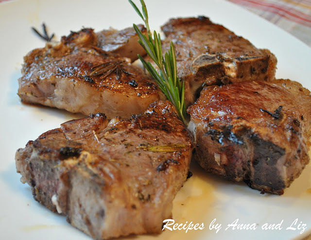 Grilled Lamb Chops with Garlic, Lemon, Wine and Herbs