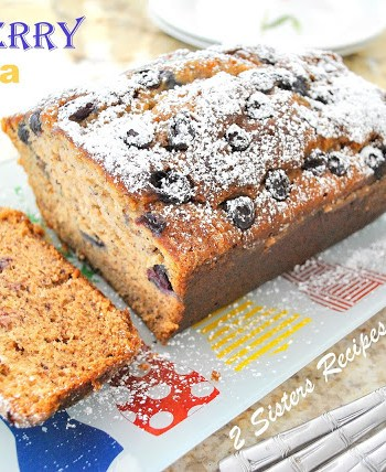 The Ultimate Blueberry Banana Bread by 2sistersrecipes.com