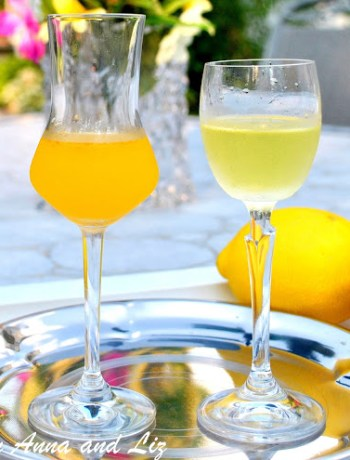 Best Home-made Limoncello and New Arancello by 2sistersrecipes.com
