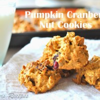 Pumpkin Cranberry Nut Cookies