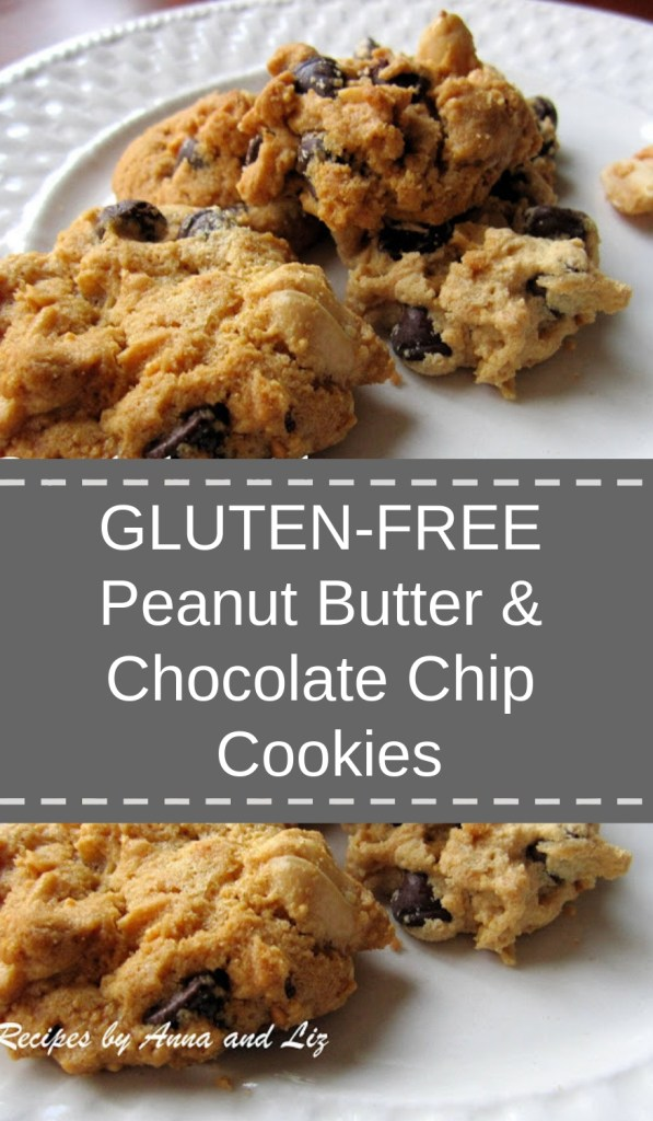 Gluten-Free Peanut Butter and Chocolate Chip Cookies by 2sistersrecipes.com
