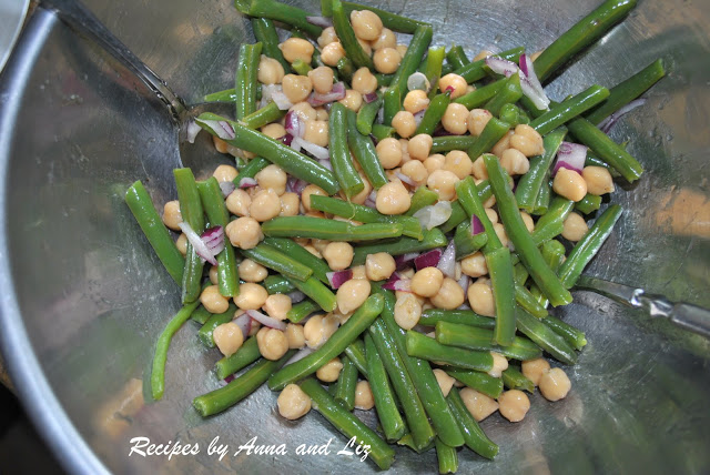 String Beans and Chickpeas Salad
