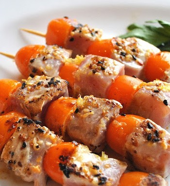 Grilled Sesame-Ginger Tuna Kabobs by 2sistersrecipes.com